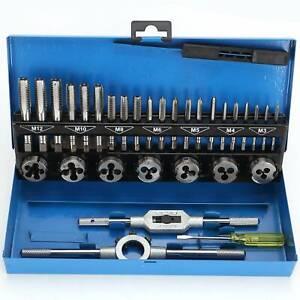32 tlg Gewindebohrer Gewindeschneider Satz M3 - M12 Schneideisen Set Werkzeug