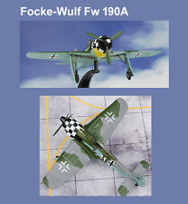 WWII 1/72 WWII Fighter Airplane Focke-Wulf Fw 190A Luftwaffe 1./JG 1 White 11