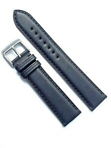 New classic oiled matt leather watch strap for Glycine watches
