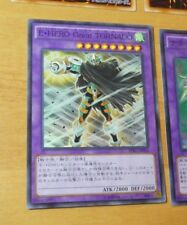 YUGIOH JAPANESE SUPER RARE CARD CARTE Elemental HERO Great Tornado SPRG-JP056 NM