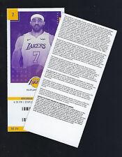 2018-2019 NBA ATLANTA HAWKS @ LOS ANGELES LAKERS UNUSED TICKET - NOV 11