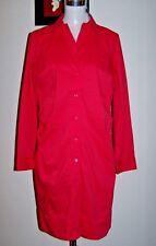 nwt $50 ESSENTIALS 14/12 CORAL COTTON BLEND STRETCH LONG SLEEVE SHIRT DRESS