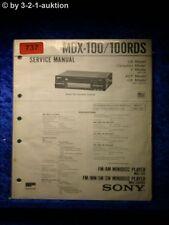 Sony Service Manual MDX 100/100rds (#0737)