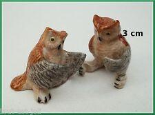 chouette, miniatures en porcelaine,chouettes collection, vitrine,uil , owl A2-01
