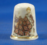 FINE PORCELAIN CHINA THIMBLE - FRIENDS QUILTING -- FREE GIFT BOX