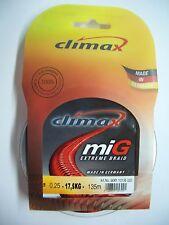 Climax Edeltrout monofile Forellen Angelschnur 5 Stärken in silbergrau orange