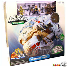 Star Wars Galactic Heroes Millennium Falcon electronic sounds Han, Chewie, C-3Po