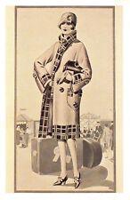 Nostalgia Postcard Fashion Travel Clothing Clothes c1930 Reproduction Card NS50