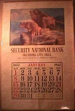 R.ATKINSON FOX PRINT - TWO LIONS - IN THE ENEMYS COUNTRY -JUMBO CALENDAR 40 X 27