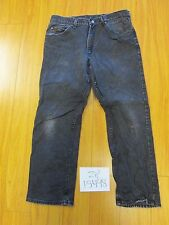 Used LEE black jean tag unclear meas 33x29 zip15498