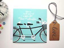 Cita Inspiradora novia y el novio Sr. & sra. tándem Bike-Boda Tarjeta (GC23C)