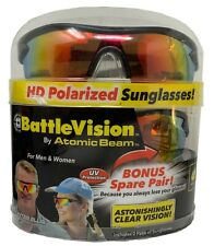 Battle Vision By Atomic Beam 2 Pairs Hi-Tech HD Polarized Sunglasses Polymer