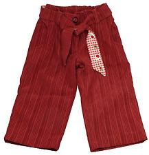Pantalon en velours côtelé, doublé, bordeaux, fille, taille 24 mois