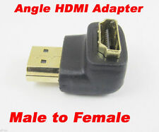 "1pc 19pin HDMI Male to Female M/F ""L"" Shape 90D Gold Plated Adapter Converter"