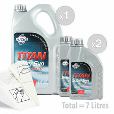 Car Engine Oil Service Kit / Pack 7 LITRES Fuchs Supersyn F Eco-DT 5w-30 7L