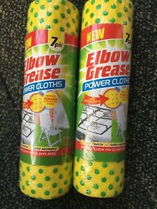 Elbow Grease power cloths X 2 Scrub Dots Tough Stubborn Cleaning Non Scratch✅✅✅