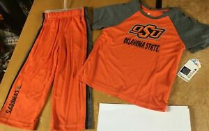 new OSU Oklahoma St COWBOYS 2pc Set Toddler 2T Little Boys Shirt & Pants Outfit