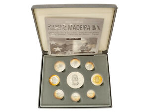 Portugal/Madiera - Silver Euro Coin Set - .925 - 2005 - UNC - In Box with COA