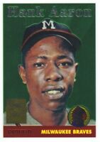 2000 Topps Baseball Aaron Chrome Reprint #5 Hank Aaron 1958 Milwaukee Braves