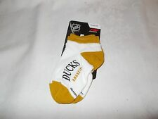 New For Bare Feet Ducks NHL Anaheim Toddler Socks Age 9 - 24 Mo Shoe Sz 1 .5 - 5