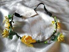 ROSE FLOWER HEAD BAND HAIR DRESS YELLOW WEDDING BRIDAL