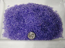 120g FACETED BICONE BEADS 3mm ACRYLIC TRANSLUCENT PURPLE APPROX 15000 BEADS
