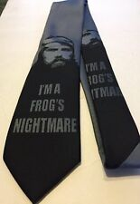 Duck Dynasty Mens Neck Tie New Black Gray Redneck New  I'm a Frog's Nightmare