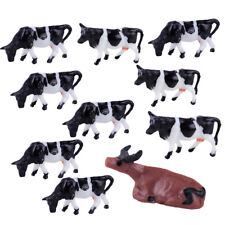 10x HO 1/87 Scale Multi Cows Model Farm Animal Figures For Train Building Layout