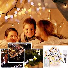 400er Kugel LED Lichterkette Warmweiß mit 8 Modi Innen Außen Wasserdicht IP44