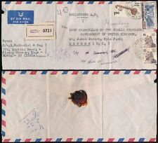 INDIA to CHANCELLOR EXCHEQUER HEALEY GB 1977 REGISTERED AIRMAIL...SM SEAL