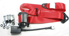 Red Automatic 3 - POINT SEAT BELT ALL FIAT 127, New Red Seat Belt