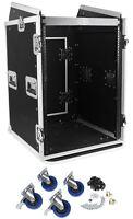 """Pro X TOV T-16MRSS 16U Straight +10U Slanted DJ Rack Flight Case w/Wheels 3/8"""""""