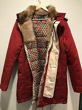 Armani Men's Red Hooded Down Parka Jacket Size EU 54 US 44 NWT