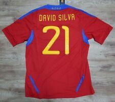 Spain Soccer Jersey Football Shirt #21 David Silva 100% Original Men's L 2011