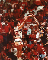 STEVE ALFORD SIGNED AUTOGRAPHED 8x10 PHOTO INDIANA HOOSIERS LEGEND BECKETT BAS