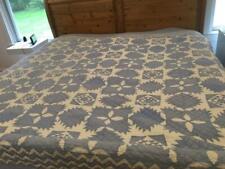 Judi Boisson Feathered Star King Quilt Set 2 Pillows Cornflower Blue Vtg 1991
