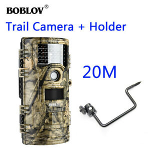 BOBLOV 1080P 20MP Night Vision Hunting Wildlife Game Scouting Camera with Stand