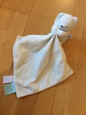 M&S Marks & Spencer Cream Teddy Bear Comforter Blankie Soft Toy Comfort Blanket