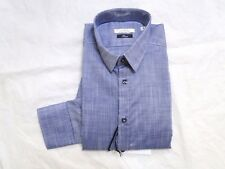 NEW VERSACE COLLECTION TREND BLUE DENIM DRESS BUTTON UP SHIRT 17 43