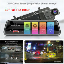 10inch Car DVR Rear View Mirror Recorders Dash Cam Full HD 1080P Touch Screen