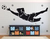 Wandaufkleber Torwart+Name Fußballer Kinderzimmer EM WM Deko Fußball WandTattoo
