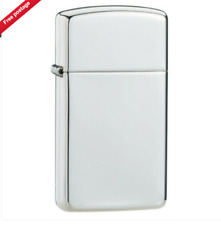 Brand New & Boxed Sterling Silver Slim High Polish Zippo Lighter Valentines Gift