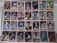 1991 Topps Cleveland Indians Team Set of 30 Baseball Cards