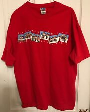 Peanuts Christmas Size Xl Tee Shirt Charlie Brown Linus Snoopy Lucy Red