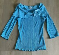 Beautiful - CDW Creative Design Works 3/4 Sleeve Aqua Women's Top - J21