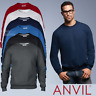 Anvil MEN'S SWAETSHIRT CLASSIC FIT SOFT COTTON CASUAL CREWNECK SWEAT S-3XL OFFER