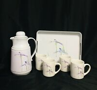 Vintage Glosser Brothers Thermal Coffee Serving Set Floral Pattern