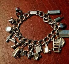 ABSOLUTELY ADORABLE VINTAGE MARINO CHARM BRACELET 17 CHARMS