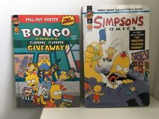 2 x Simpsons COMICS BOOKS  Groening Gimme Gimme  Giveaway Bongo SC #1 FREE POST