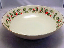"""Royal Gallery All The Trimmings Vegetable Bowl 9"""" D Holly Holiday Christmas"""